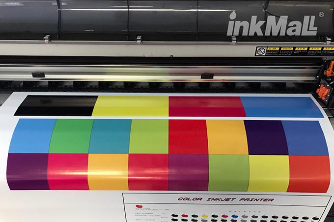 Impresión de pancartas de PVC Flex por Mutoh